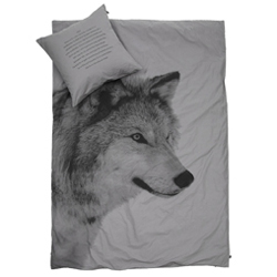 Wolf single bedding set(gray)