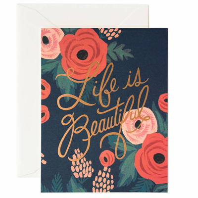 Life is beautifel Card