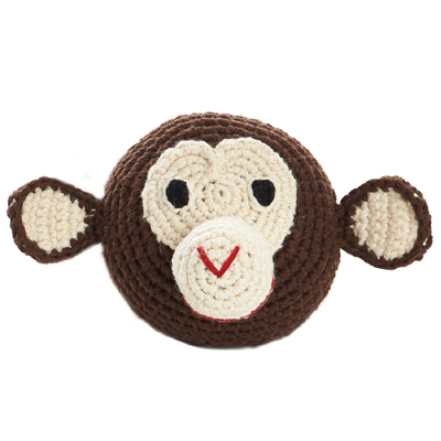 Mini Chimp Head Crochet (Brown)