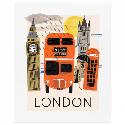 Travel London poster