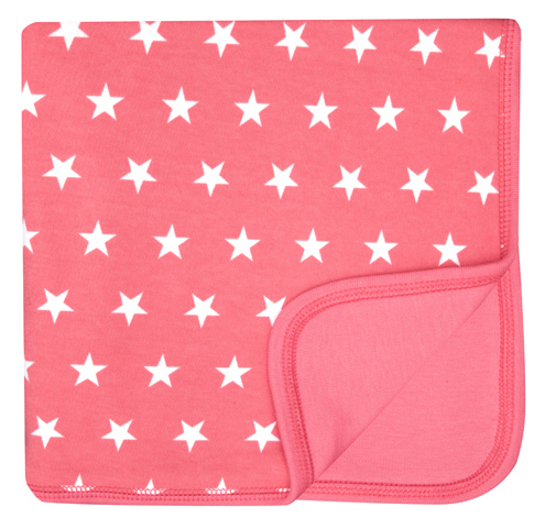 Flamingo Pink & White Star Blanket