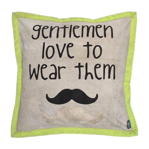canvas cushion moustache