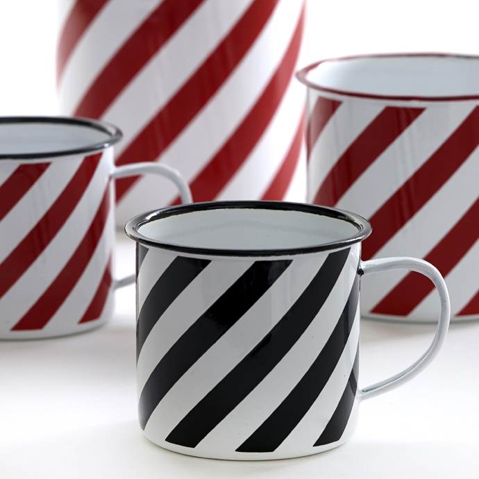 Cup Red and Black lines set of 2
