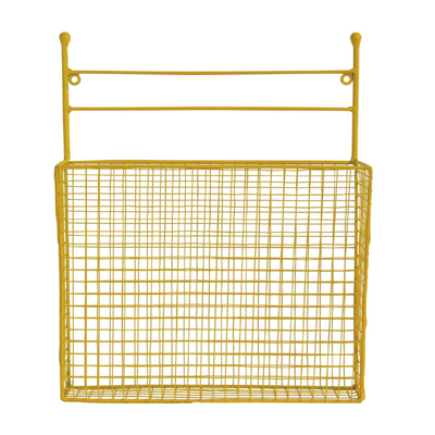Wall Wire Basket Yellow