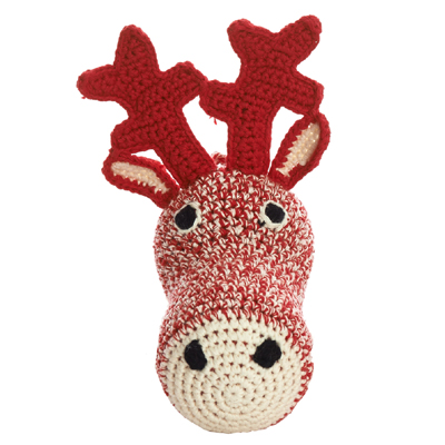 Mini Deer Head Crochet (Red)