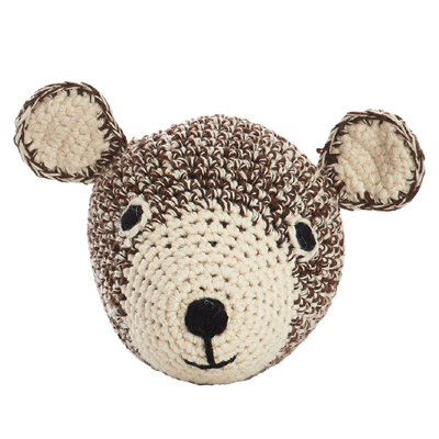 Mini Teddy Head Crochet (Brown)