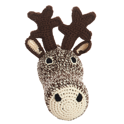 Mini Deer Head Crochet (Brown)