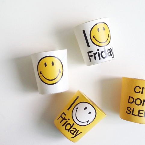 30% SALE! Smiley Candle Cups set of 4