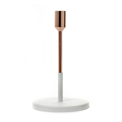 Candle holder Copper Whtie