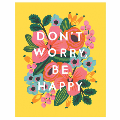 Dont worry be happy poster